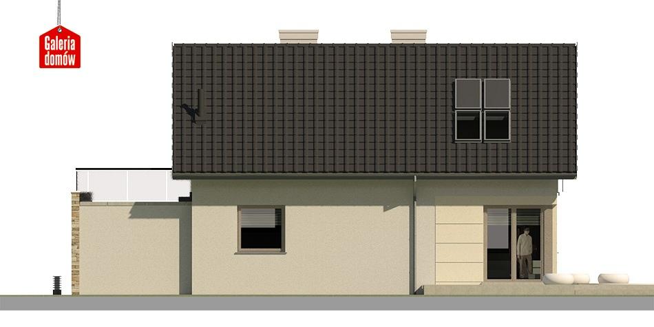 Dom przy Alabastrowej 3 - elewacja lewa