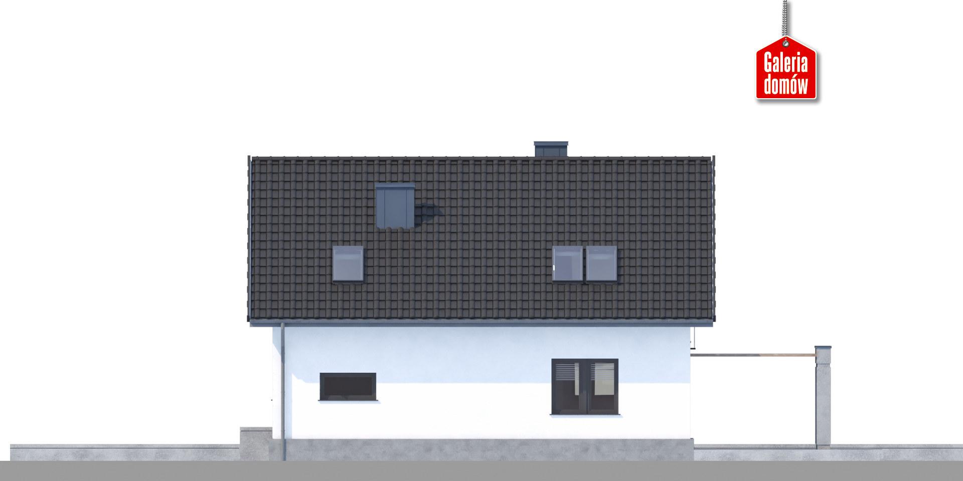 Dom przy Alabastrowej 30 - elewacja tylna