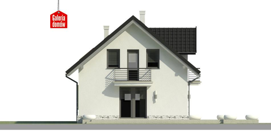 Dom przy Alabastrowej 31 - elewacja frontowa