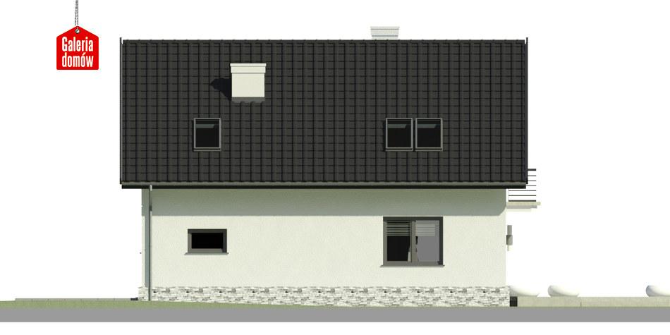 Dom przy Alabastrowej 31 - elewacja lewa