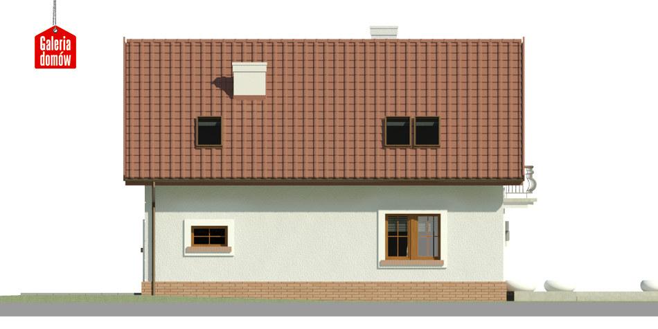 Dom przy Alabastrowej 32 - elewacja lewa