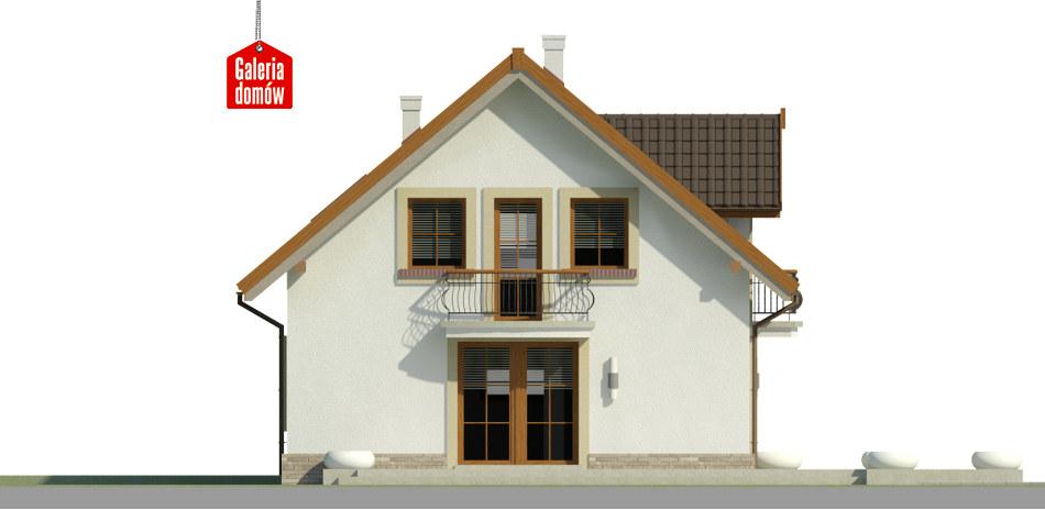 Dom przy Alabastrowej 34 - elewacja frontowa
