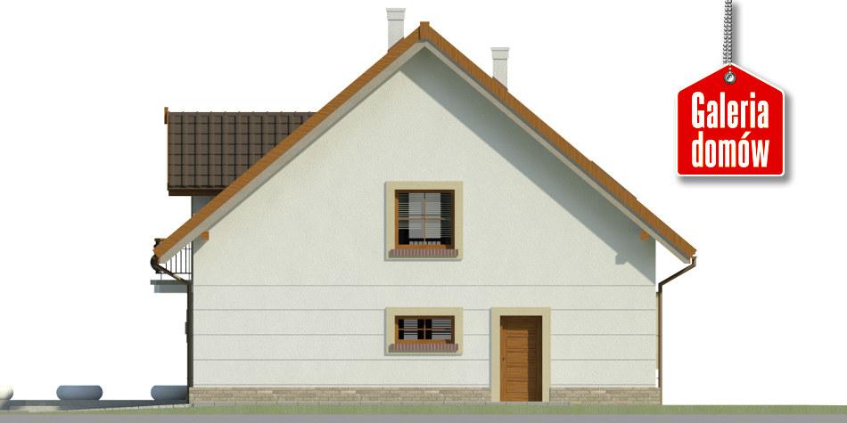 Dom przy Alabastrowej 36 - elewacja tylna