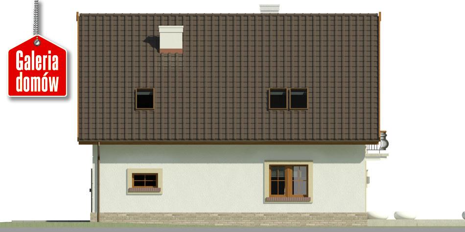 Dom przy Alabastrowej 36 - elewacja lewa
