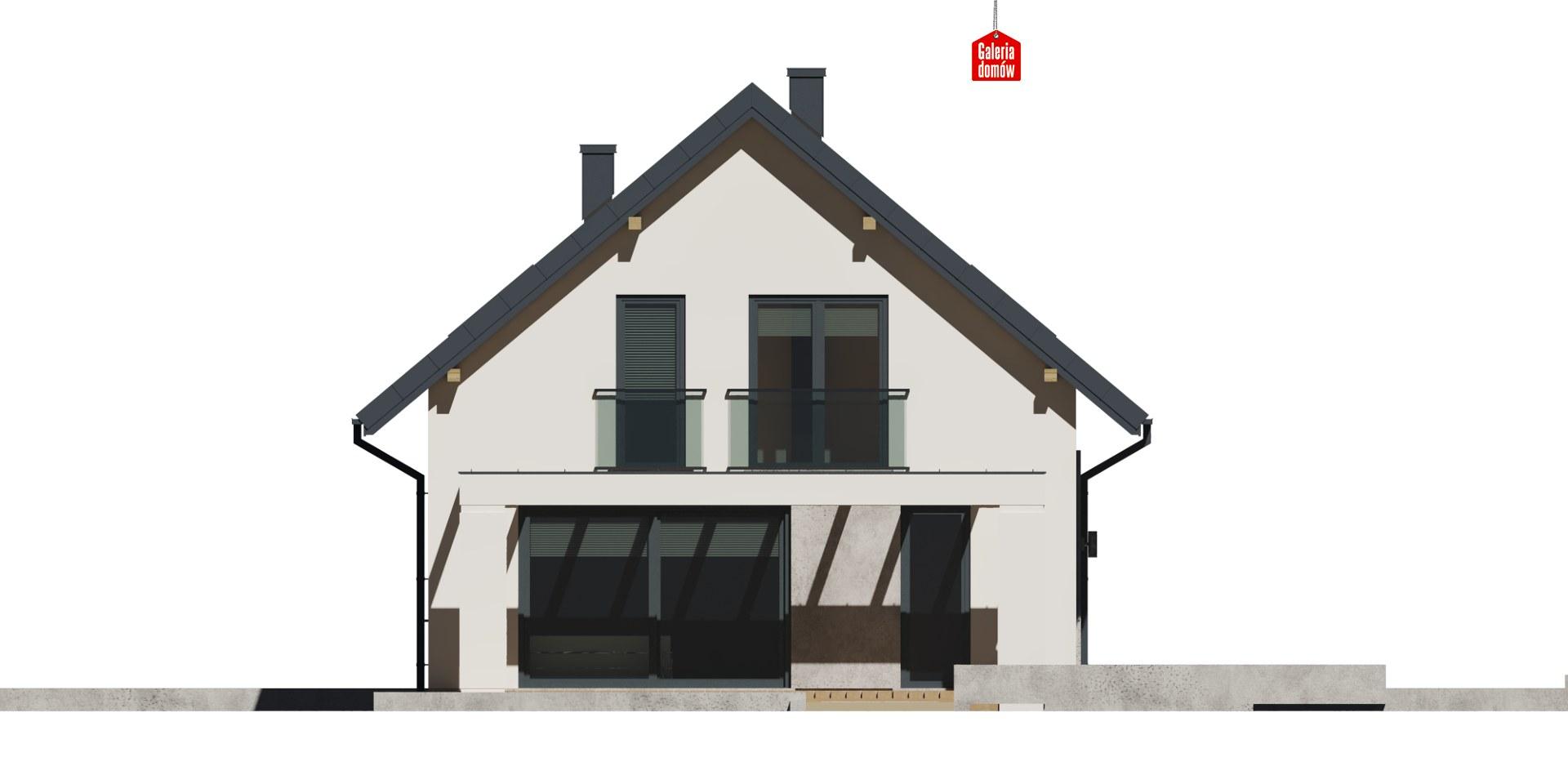 Dom przy Alabastrowej 37 - elewacja lewa
