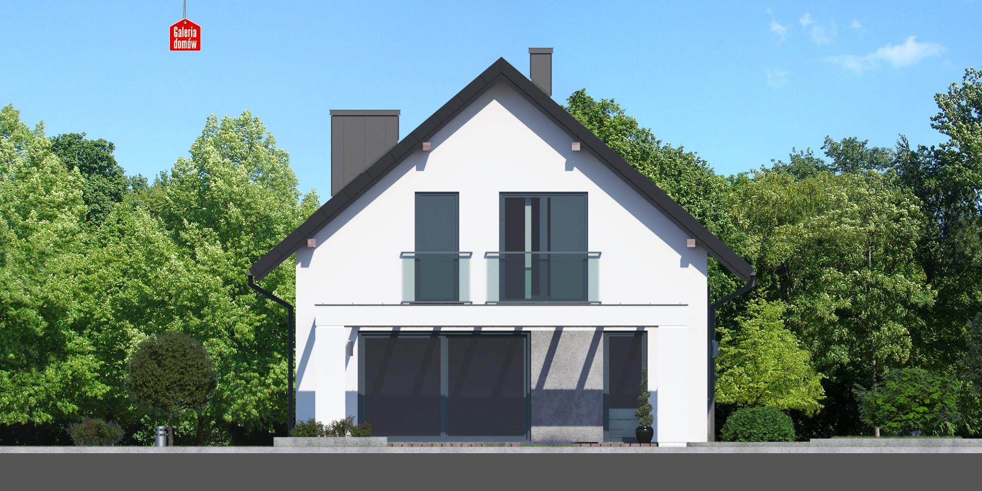 Dom przy Alabastrowej 39 - elewacja frontowa