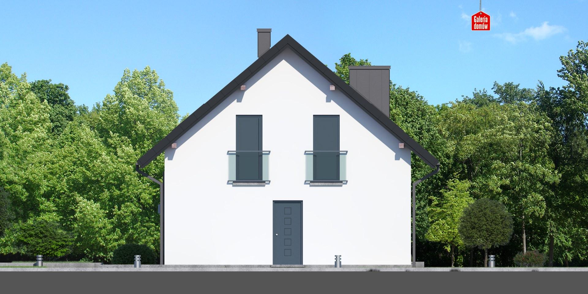 Dom przy Alabastrowej 39 - elewacja tylna