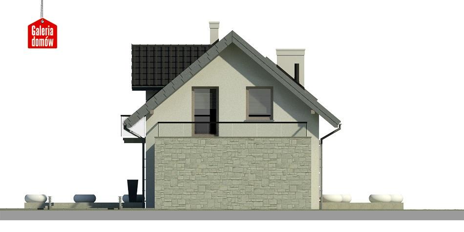 Dom przy Alabastrowej 4 - elewacja tylna