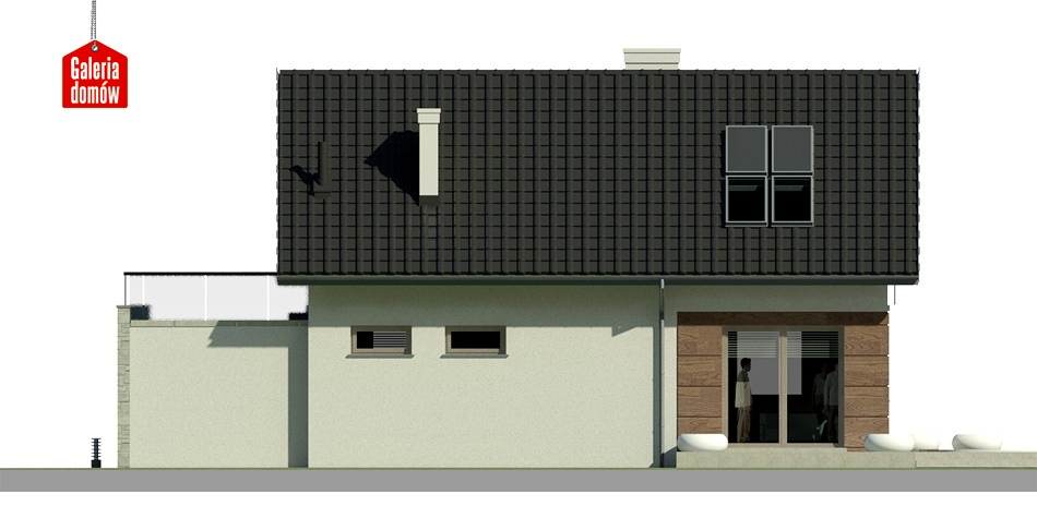 Dom przy Alabastrowej 4 - elewacja lewa