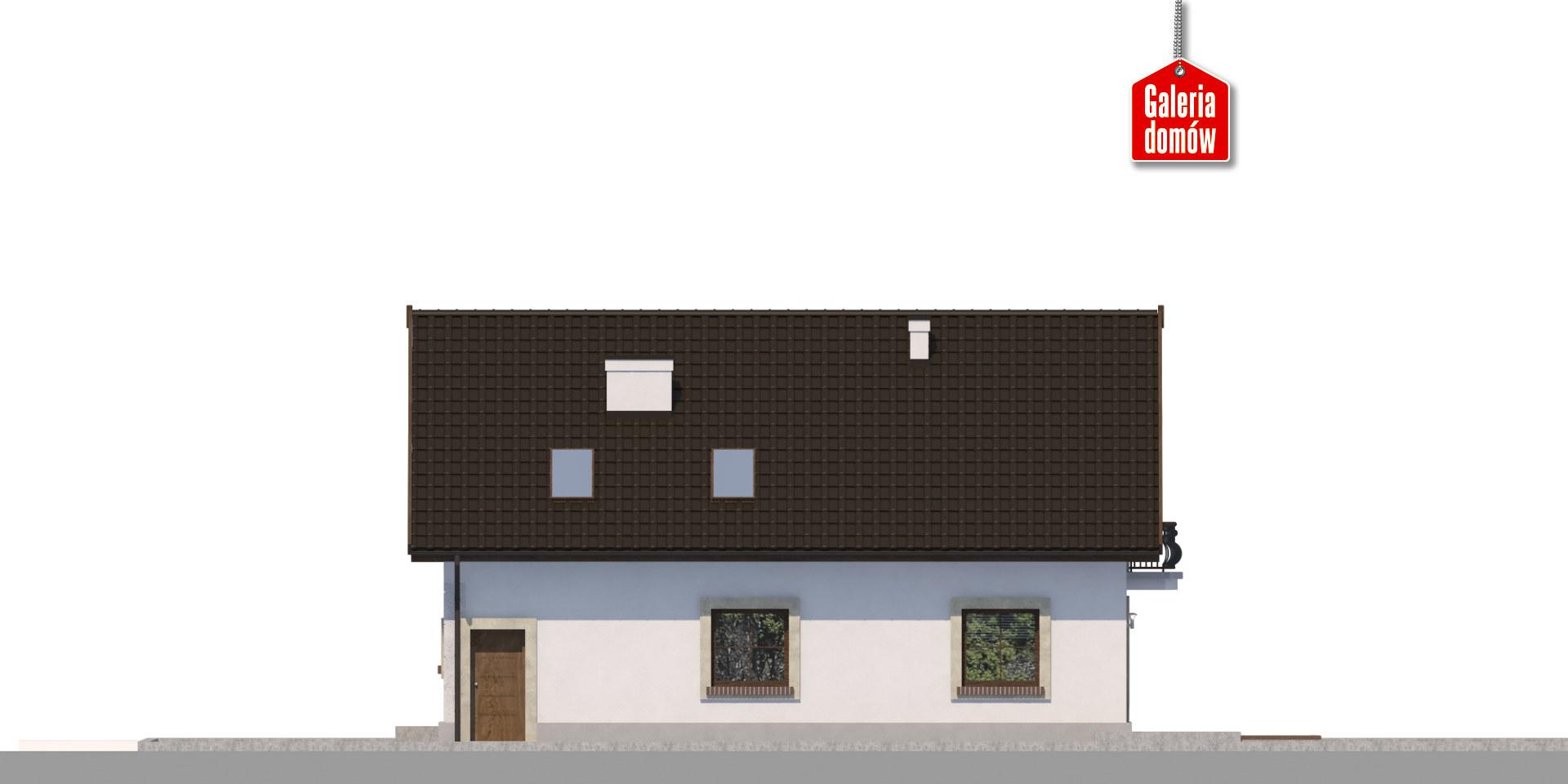 Dom przy Alabastrowej 44 - elewacja tylna