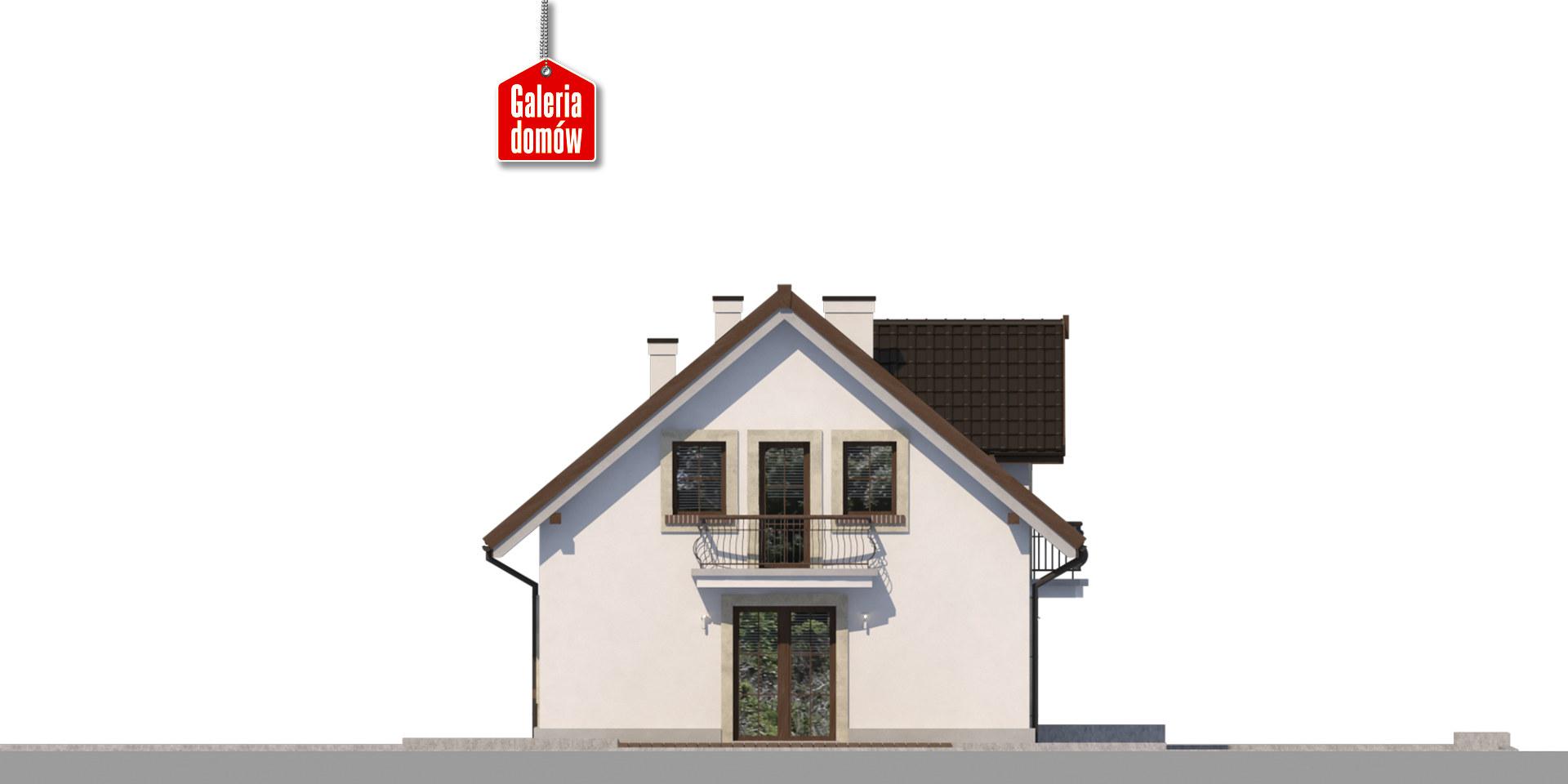 Dom przy Alabastrowej 44 - elewacja lewa