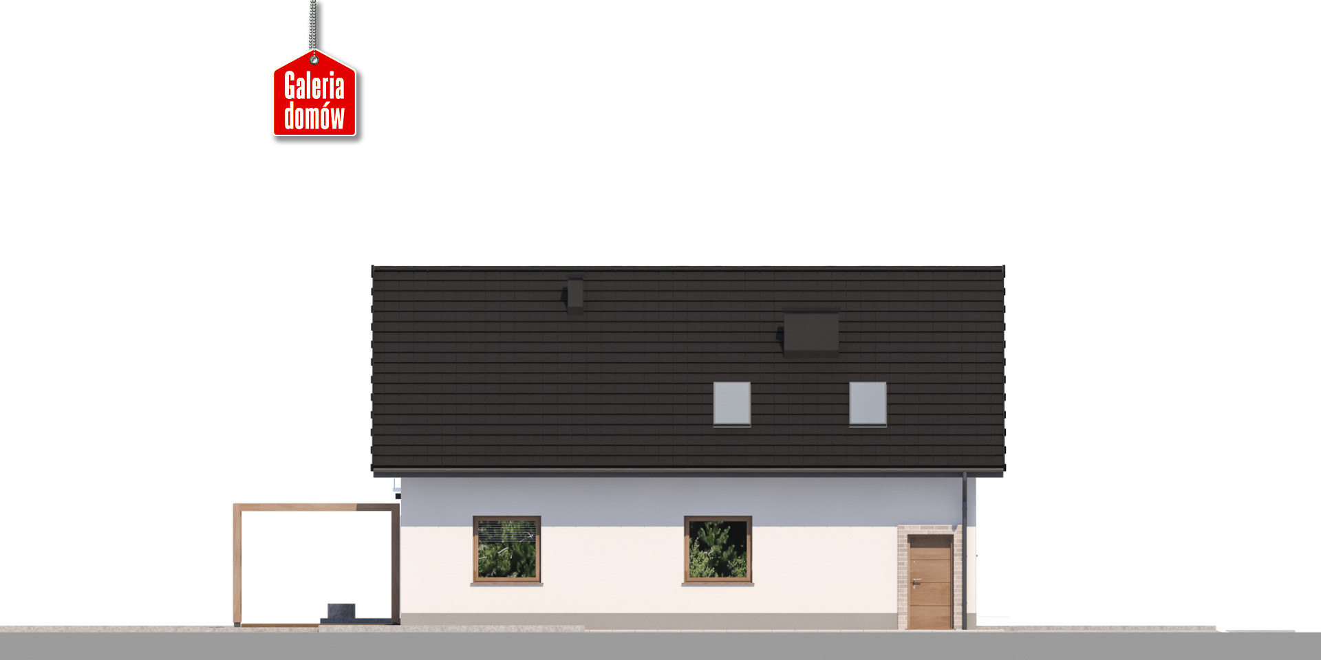 Dom przy Alabastrowej 49 - elewacja tylna