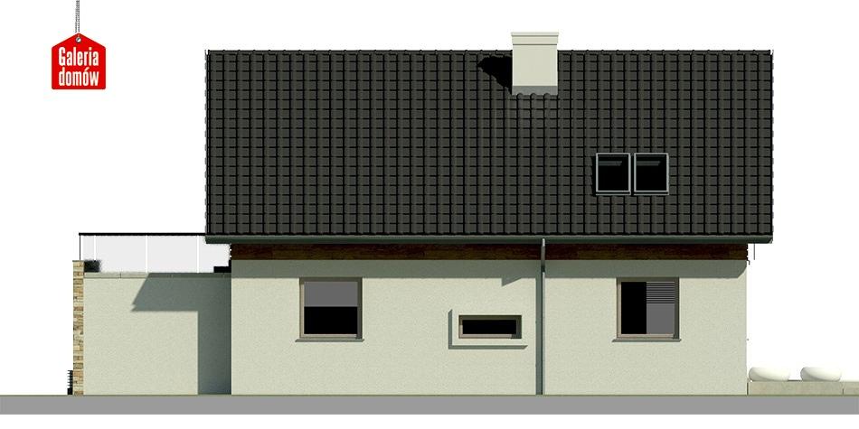 Dom przy Alabastrowej 5 - elewacja lewa