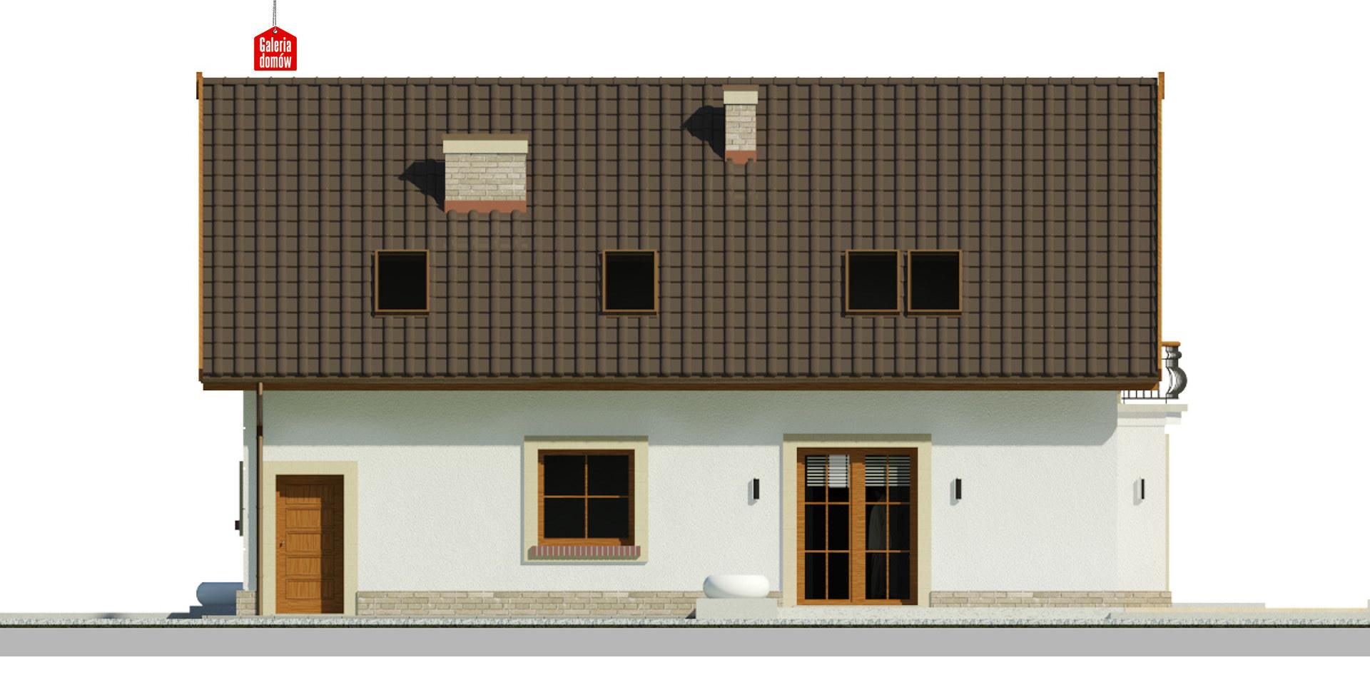 Dom przy Alabastrowej 51 - elewacja tylna