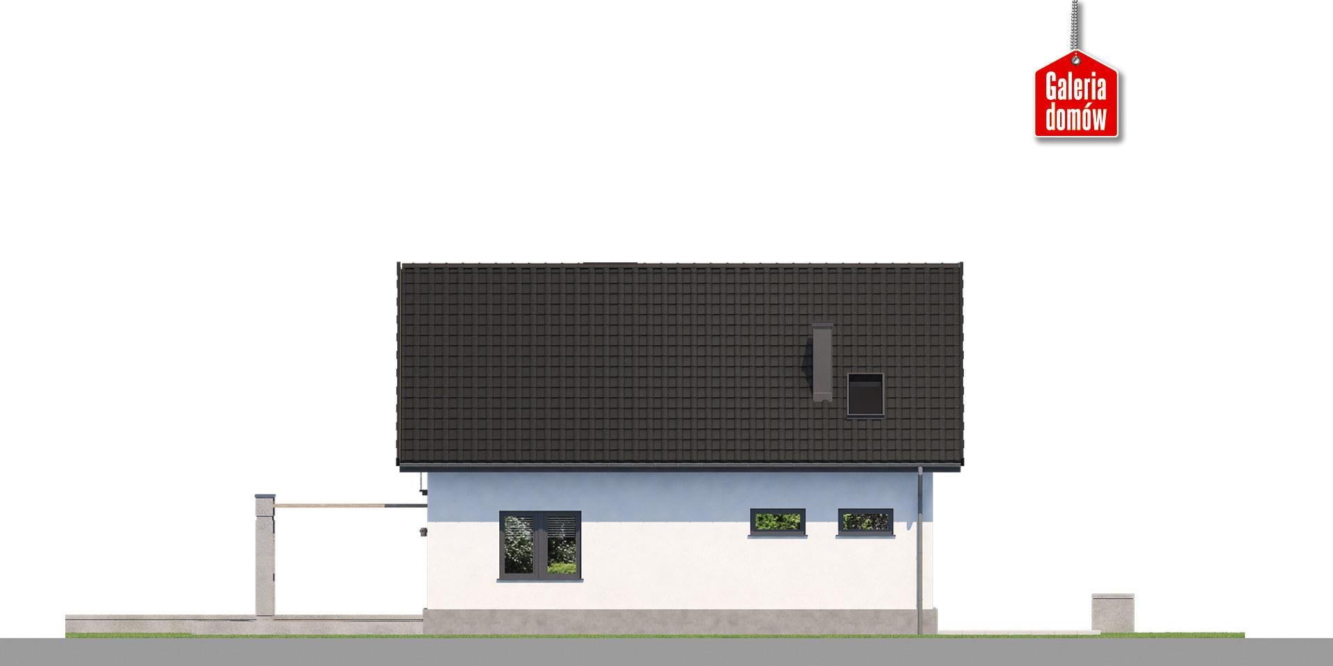 Dom przy Alabastrowej 56 - elewacja tylna