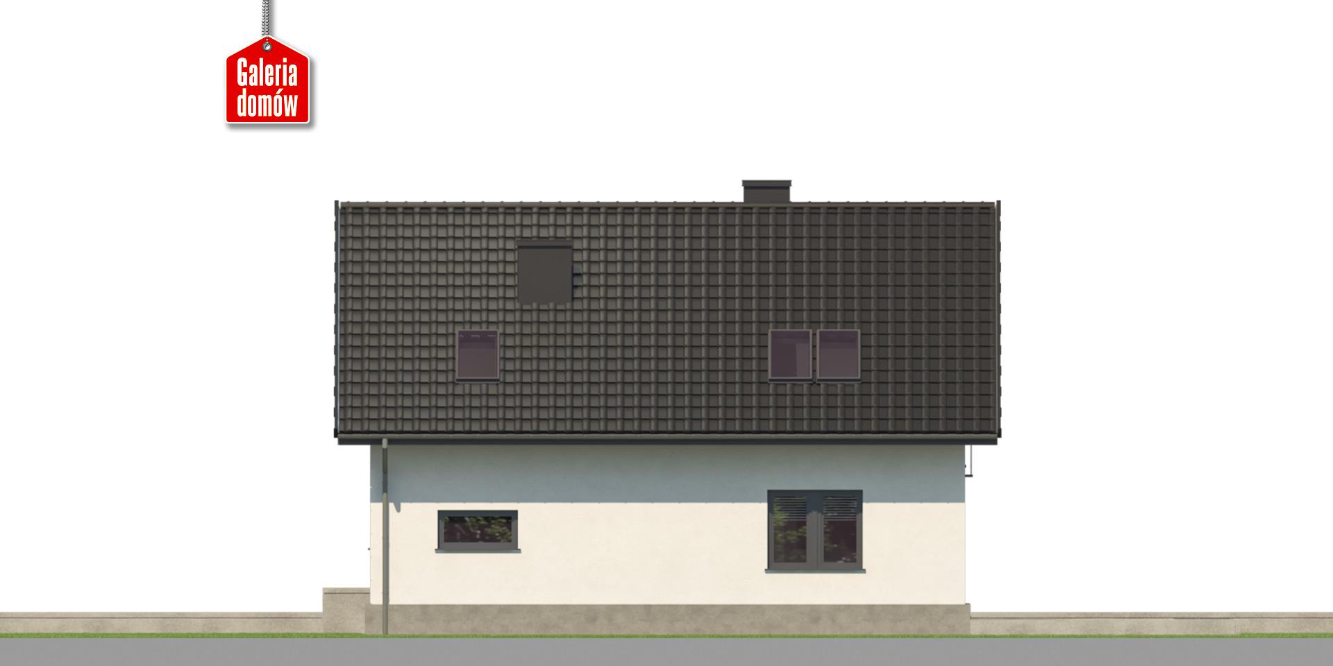 Dom przy Alabastrowej 59 - elewacja tylna