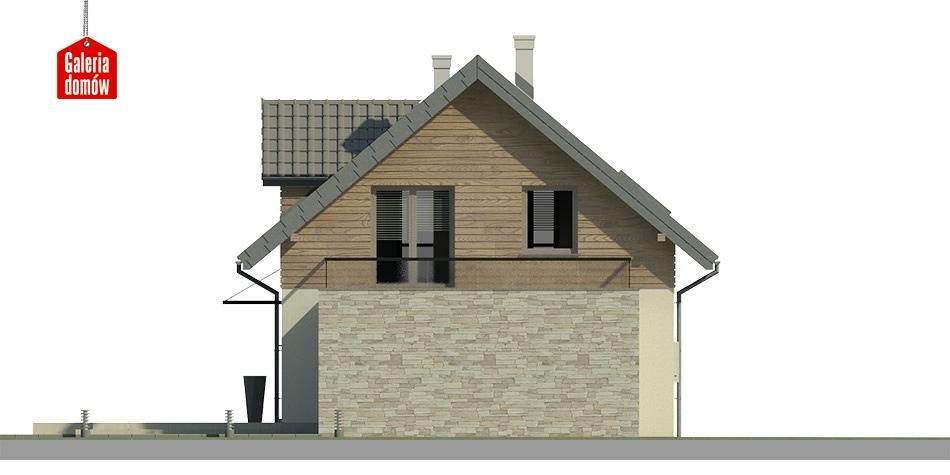 Dom przy Alabastrowej 6 - elewacja tylna