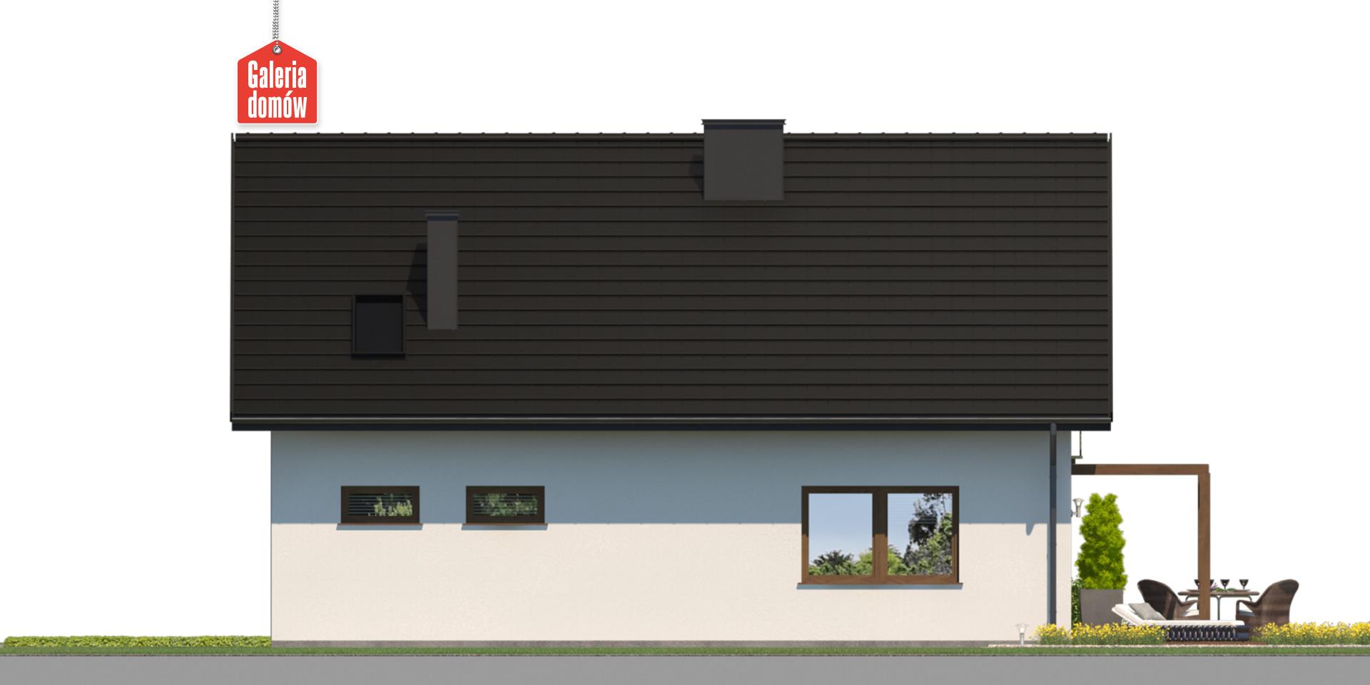 Dom przy Alabastrowej 61 - elewacja tylna
