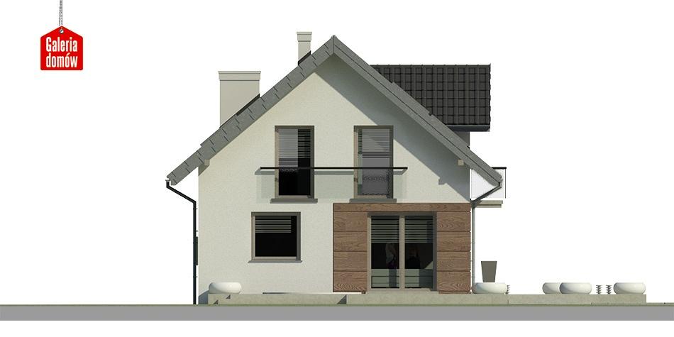 Dom przy Alabastrowej 8 - elewacja frontowa