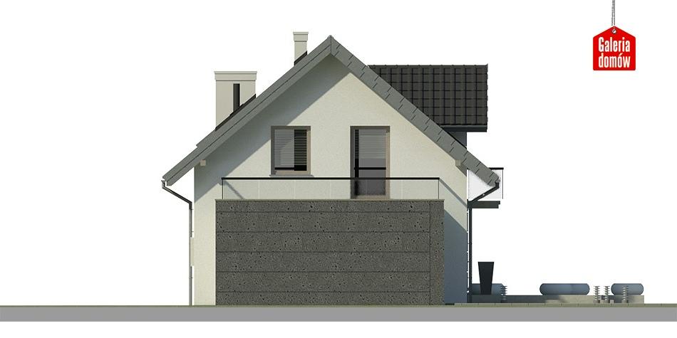 Dom przy Alabastrowej 8 - elewacja tylna