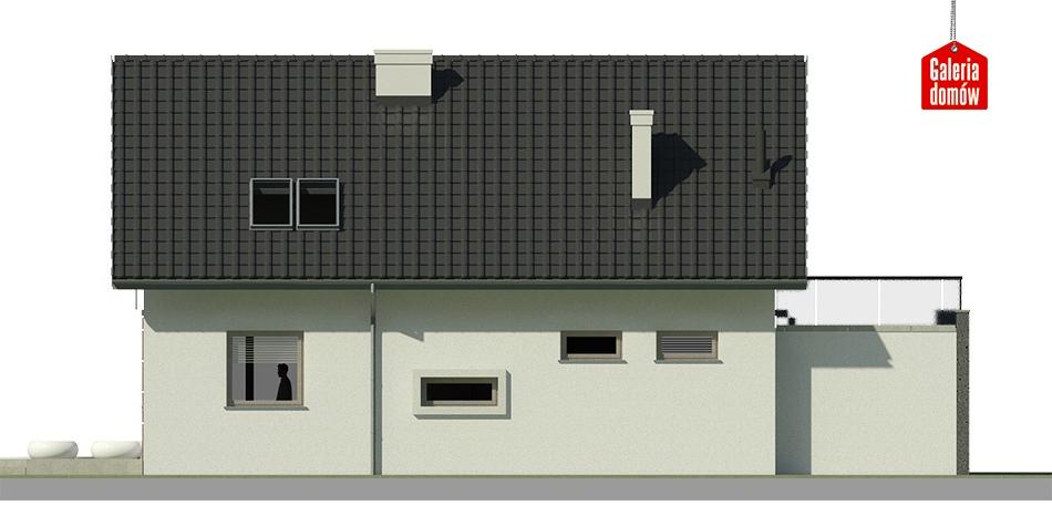 Dom przy Alabastrowej 8 - elewacja lewa