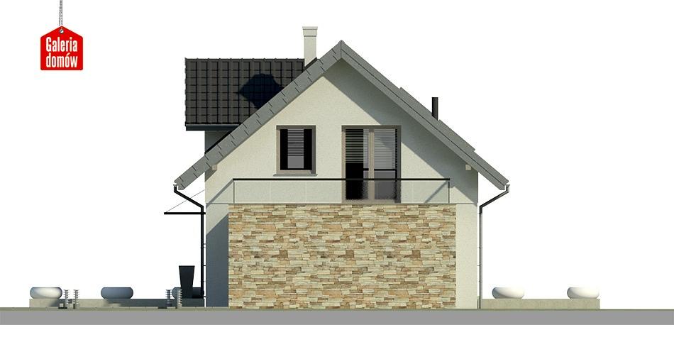 Dom przy Alabastrowej 9 - elewacja tylna