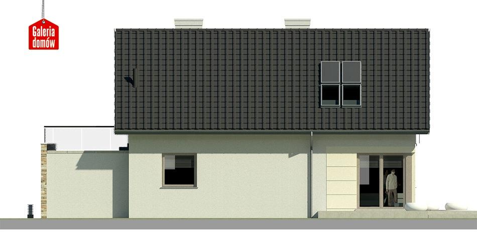 Dom przy Alabastrowej 9 - elewacja lewa