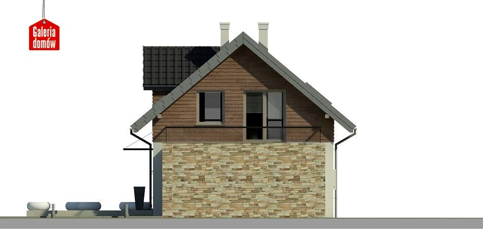 Dom przy Alabastrowej - elewacja tylna