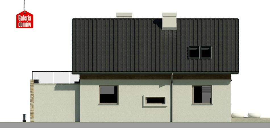 Dom przy Alabastrowej - elewacja lewa