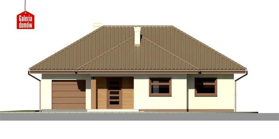 Dom przy Altanowej 2 - elewacja frontowa