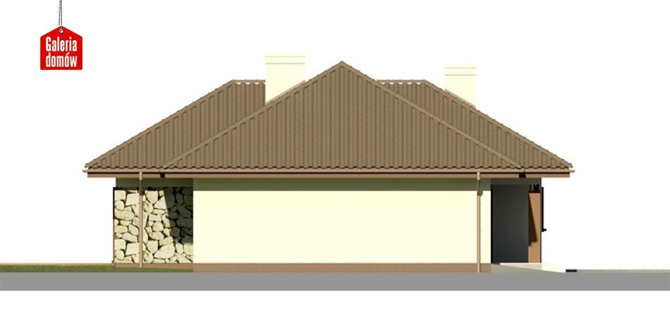 Dom przy Altanowej 2 - elewacja lewa