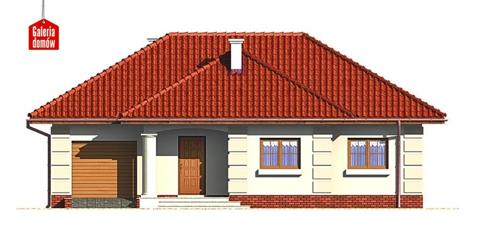 Dom przy Altanowej - elewacja frontowa
