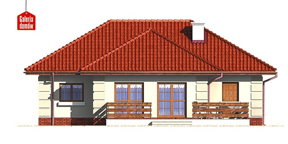 Dom przy Altanowej - elewacja tylna