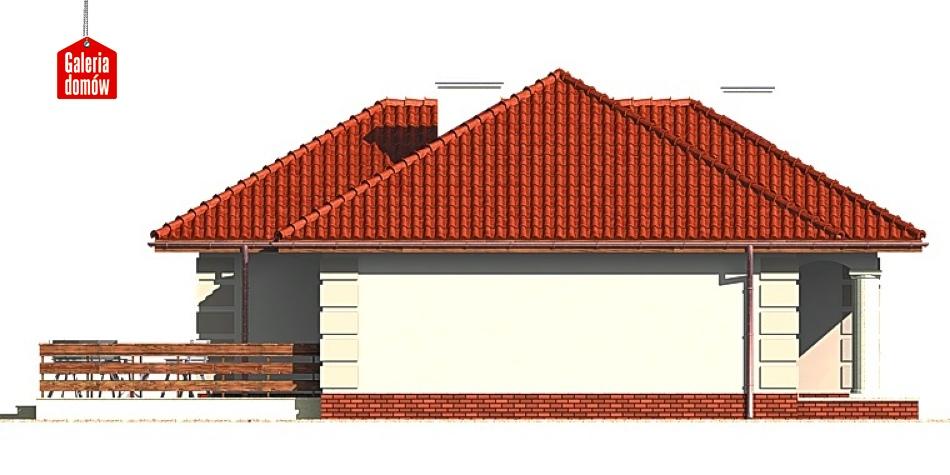 Dom przy Altanowej - elewacja lewa