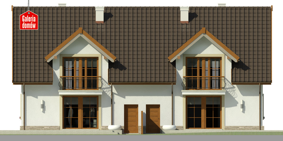 Dom przy Amarantowej 2 - elewacja tylna
