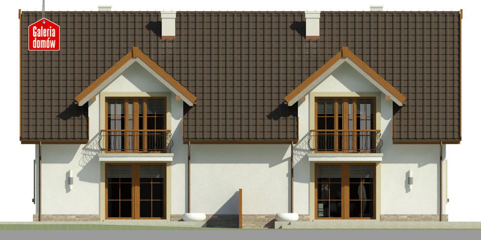 Dom przy Amarantowej 3 - elewacja tylna