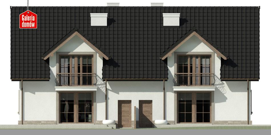Dom przy Amarantowej 4 - elewacja tylna