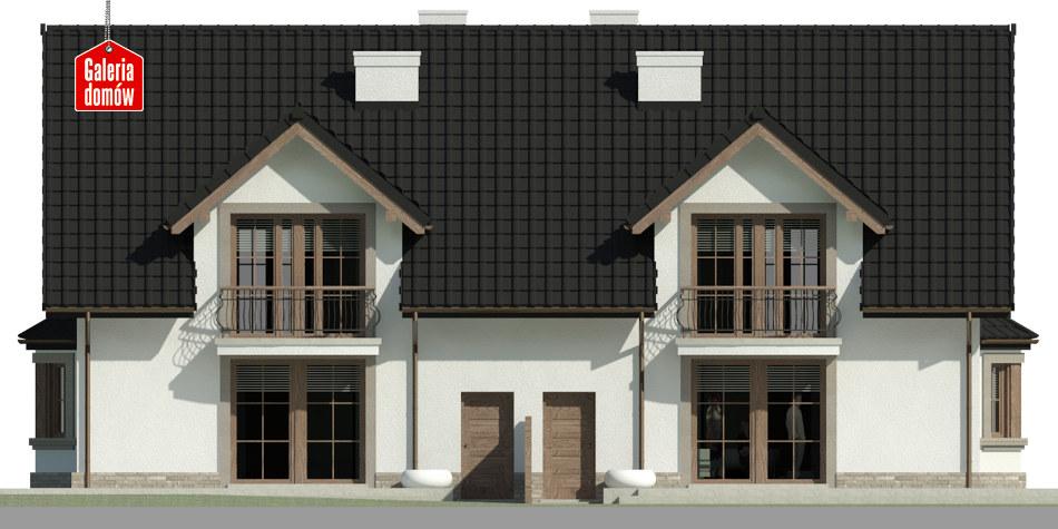 Dom przy Amarantowej 5 - elewacja tylna