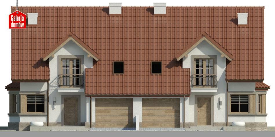 Dom przy Amarantowej 6 - elewacja frontowa