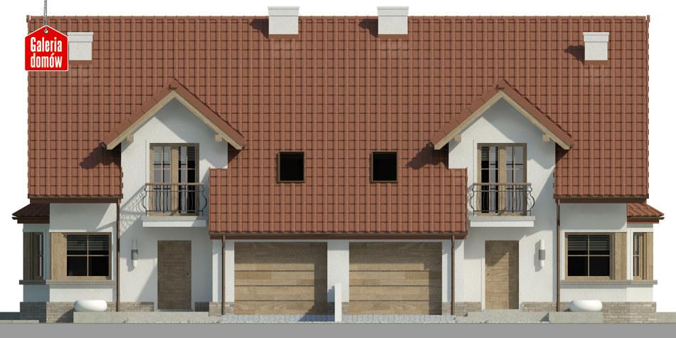 Dom przy Amarantowej 7 - elewacja frontowa