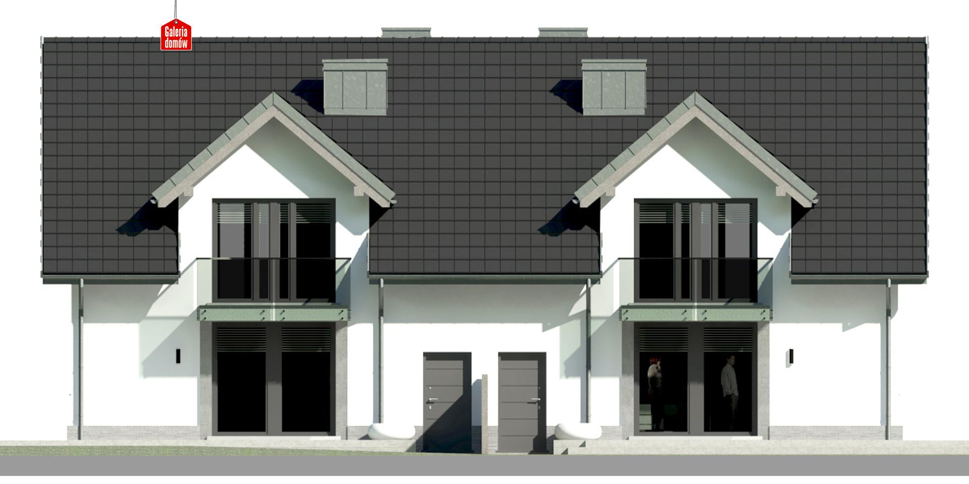 Dom przy Amarantowej 8 - elewacja tylna