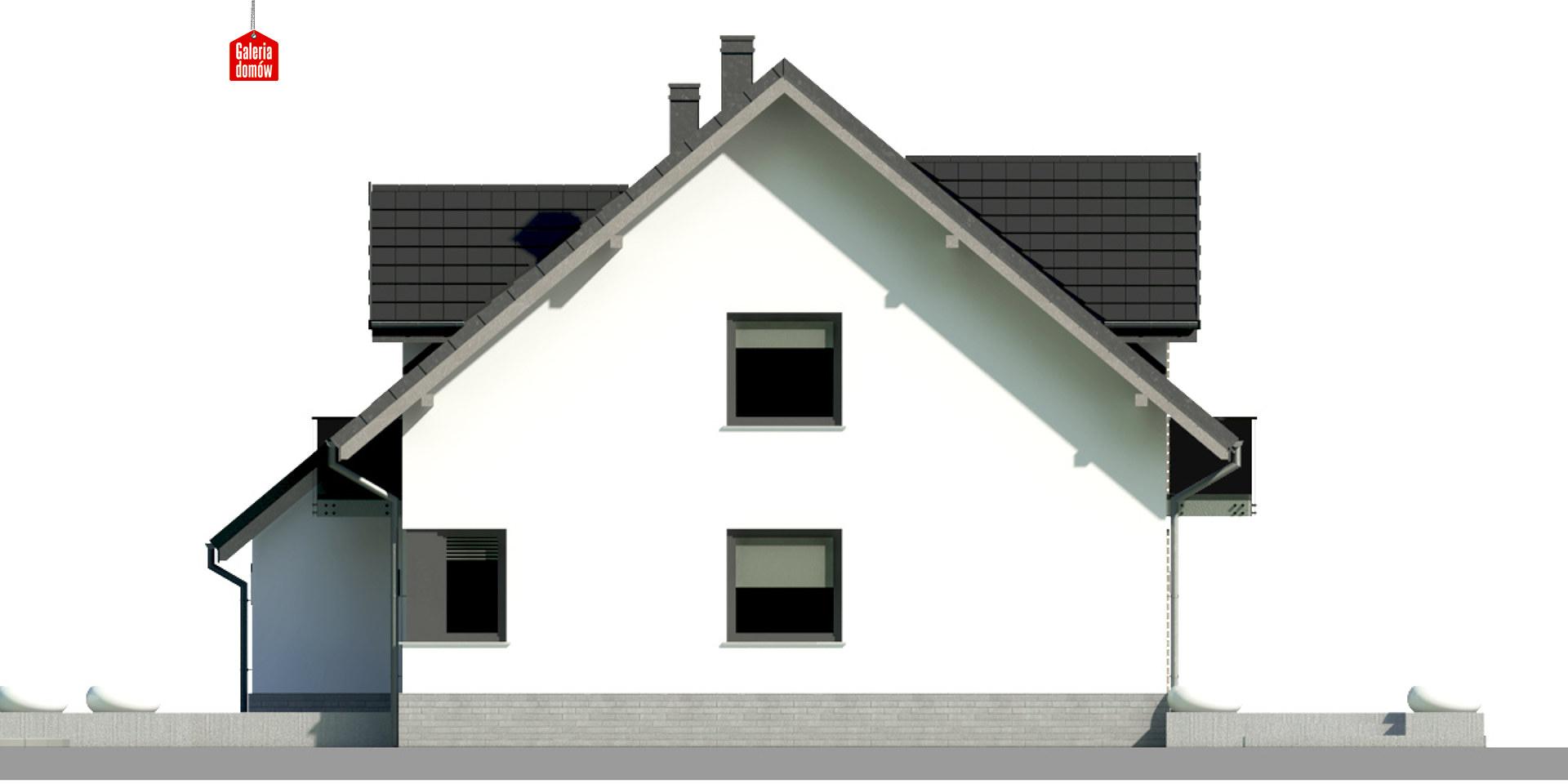 Dom przy Amarantowej 9 dwulokalowy - elewacja prawa