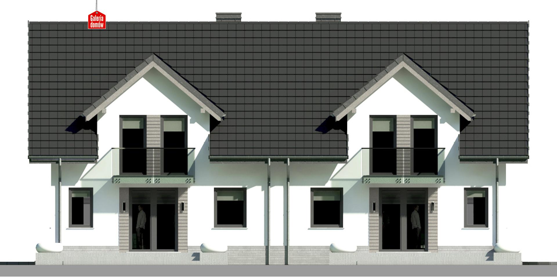 Dom przy Amarantowej 9 dwulokalowy - elewacja tylna