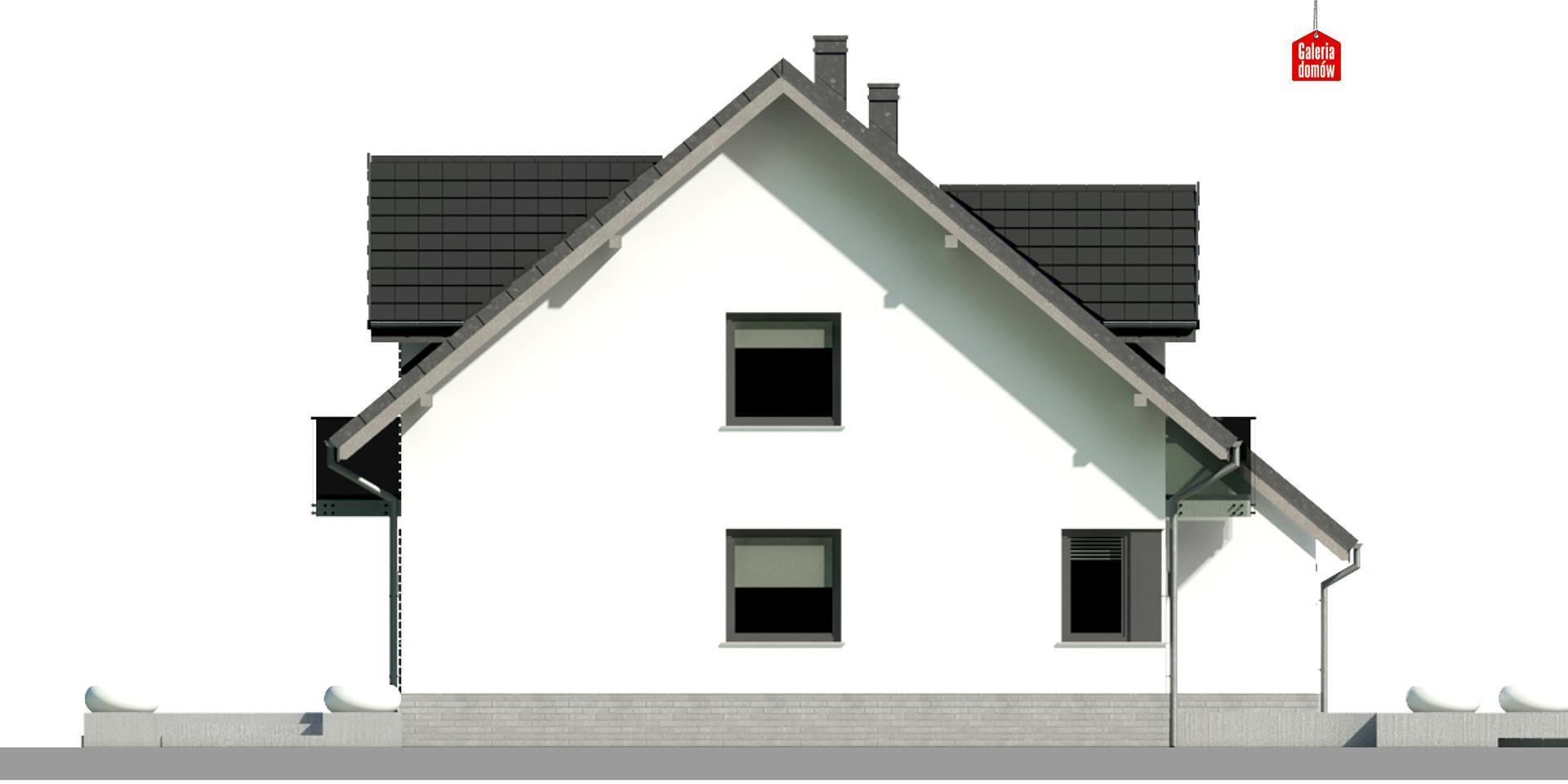 Dom przy Amarantowej 9 dwulokalowy - elewacja lewa