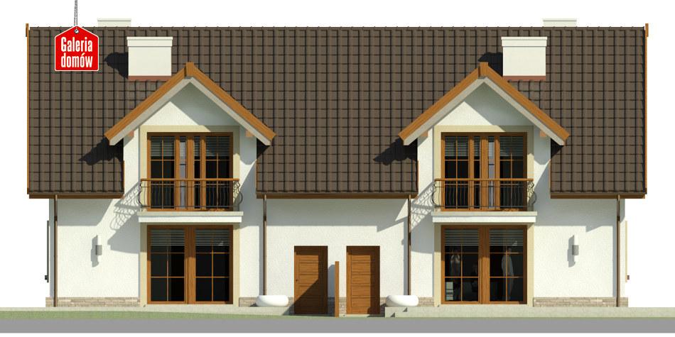 Dom przy Amarantowej - elewacja tylna