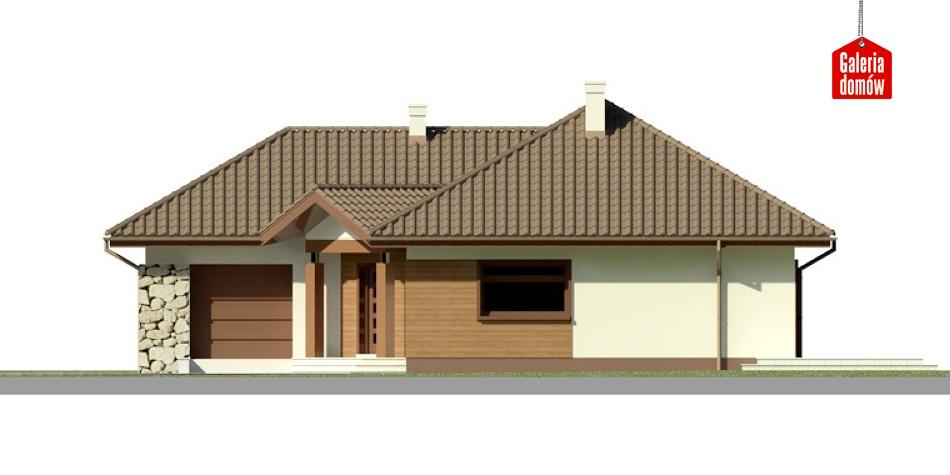 Dom przy Bajecznej 2 - elewacja frontowa