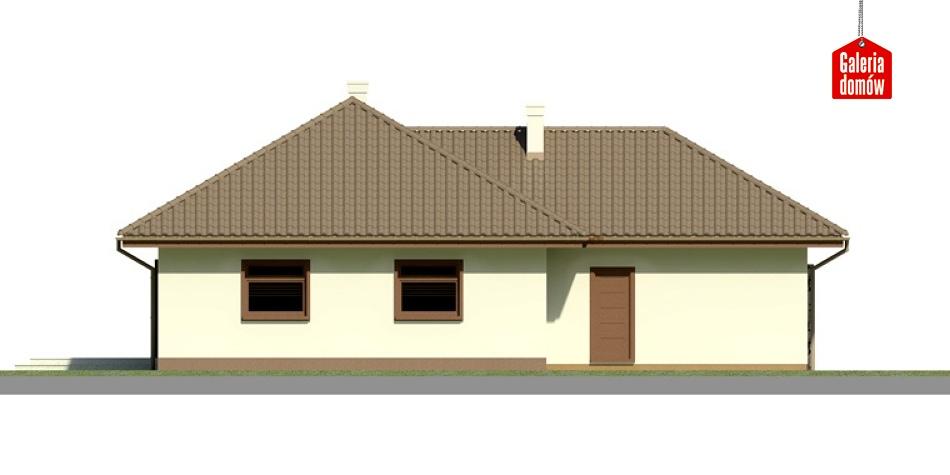Dom przy Bajecznej 2 - elewacja tylna