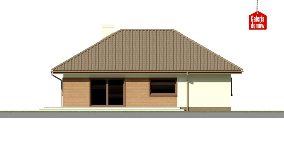 Dom przy Bajecznej 2 - elewacja lewa