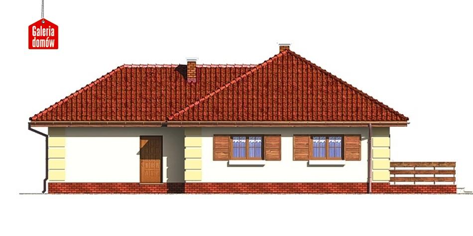 Dom przy Bajecznej - elewacja tylna