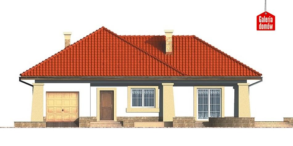 Dom przy Baśniowej - elewacja frontowa